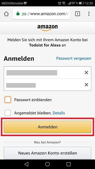 Schritt 5: Todoist mit Alexa verbinden
