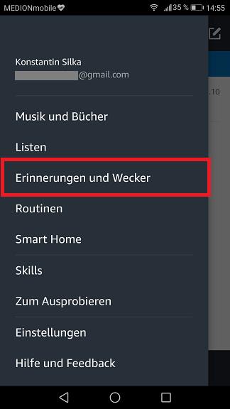 Schritt 1: Alexa Wecker stellen