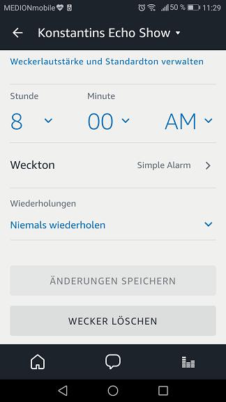 Schritt 3: Alexa Wecker stellen