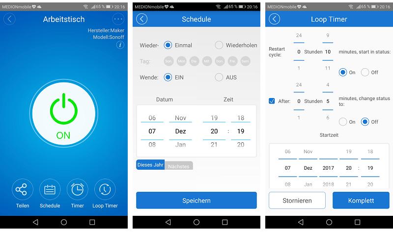 Sonoff Basic eWeLink App