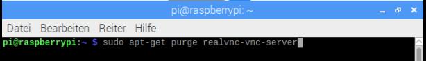 Raspberry Pi via Remote-Desktop (XRDP) fernsteuern - RealVNC Server des Raspbian deinstallieren