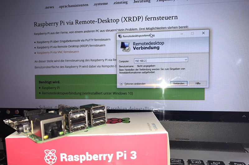 Raspberry Pi via Remote-Desktop (XRDP) fernsteuern