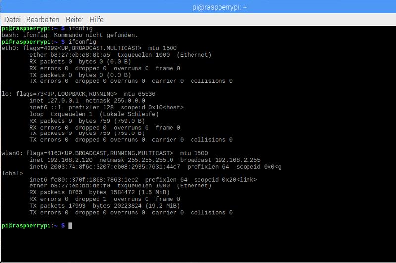 Raspberry Pi Befehle