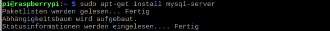 Raspberry Pi: SQL installieren