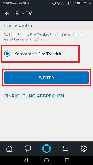 Schritt 4: Alexa Fire TV steuern