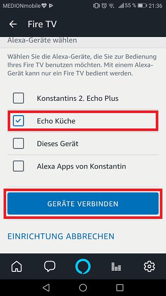 Schritt 5: Alexa Fire TV steuern