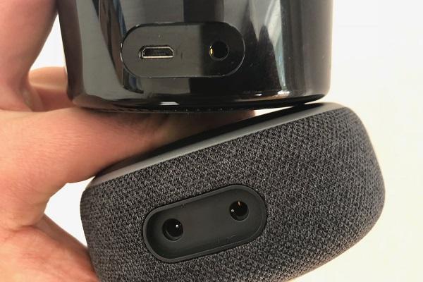 Echo Dot 3 Anschlüsse. Audio. Strom.