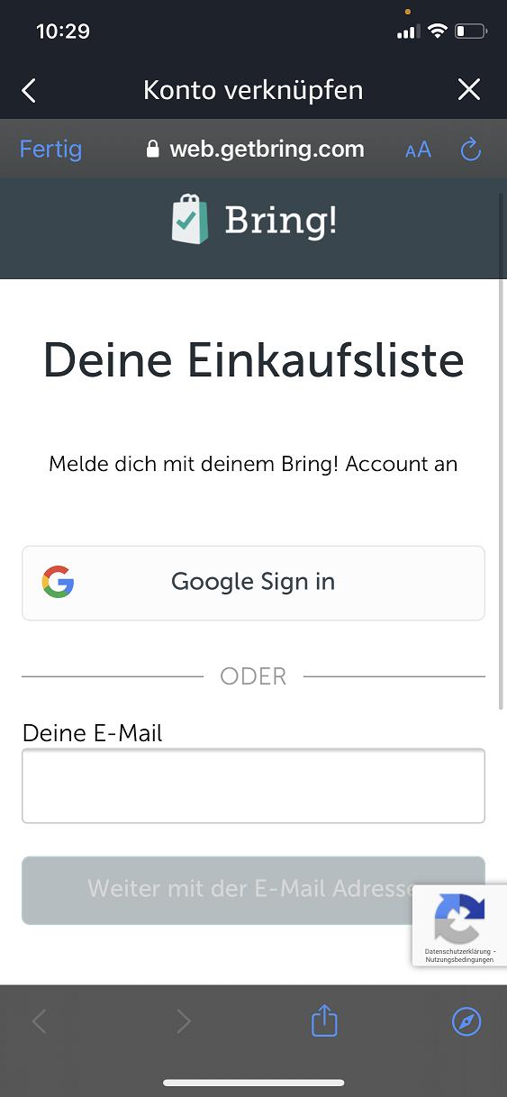 Schritt 4: Bring! Einkaufsliste mit Alexa verbinden