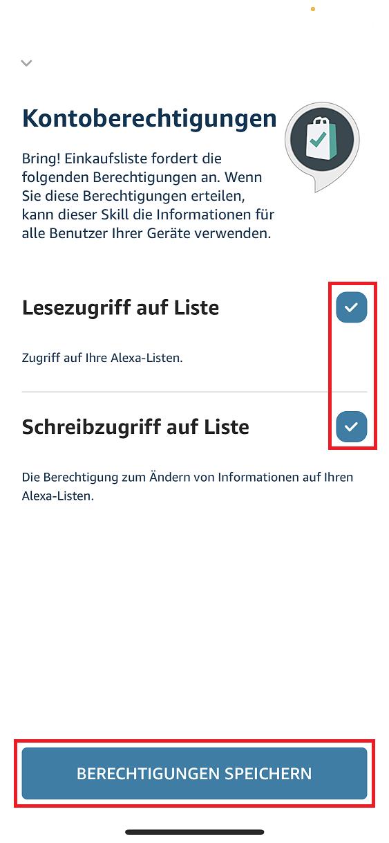 Schritt 5: Bring! Einkaufsliste mit Alexa verbinden