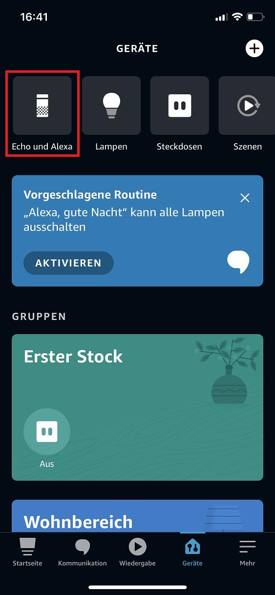 Schritt 1: Alexa Aktivierungswort ändern