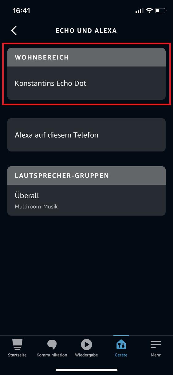 Schritt 2: Alexa Aktivierungswort ändern