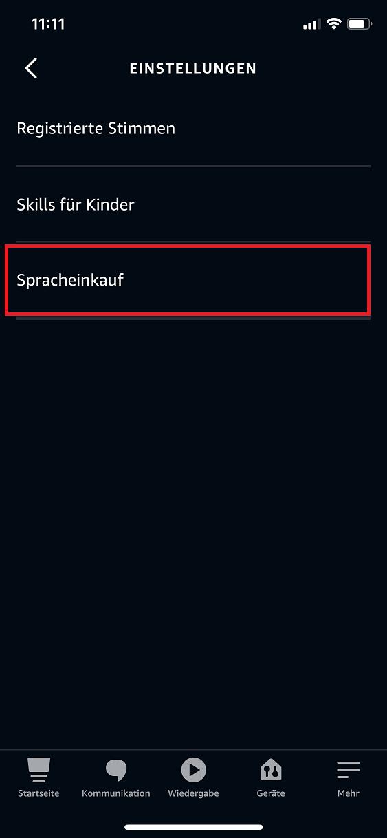 Schritt 2: Alexa Spracheinkauf deaktivieren | aktivieren
