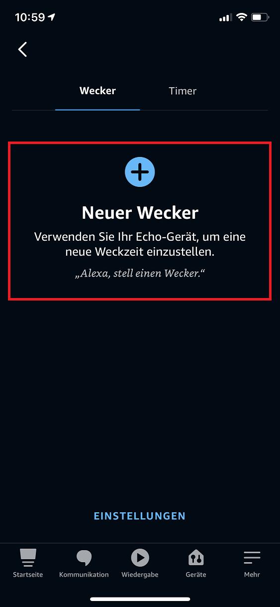 Schritt 2: Alexa Wecker stellen